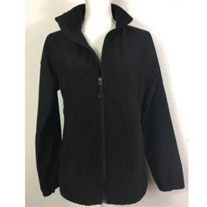 Black Diamond L Black Zip Front Coat